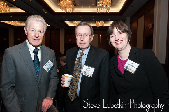 Among the participants at the 2015 New Jersey Future Redevelopment Conference were, from left, former NJ Gov. James J. Florio, a board member of New Jersey Future; Dean James Hughes of the Edward Bloustein School of Planning and Public Policy at Rutgers University, and Lucy Vandenberg, former member of the Council on Affordable Housing (COAH). Steve Lubetkin Photography: New Jersey Future - Redevelopment 2015 Conference &emdash; New Jersey Future Holds 2015 Redevelopment Forum